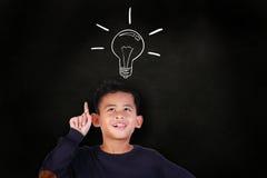 Little Boy ottiene un'idea Immagini Stock Libere da Diritti