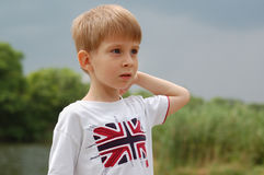 Little boy outdoor Royalty Free Stock Images
