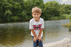 Little boy outdoor Stock Photos