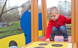 Little boy on outdoor playground Stock Photography