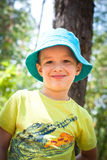 Little boy outdoor Stock Images