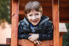 Little boy outdoor portrait Royalty Free Stock Image
