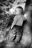 Little boy outdoors Royalty Free Stock Photos