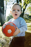 Little boy outdoors royalty free stock photo