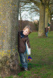 Little boy outdoors Stock Photography