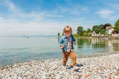 Little boy outdoors Royalty Free Stock Photos