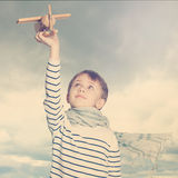 Little boy outdoors under the sky Stock Photography