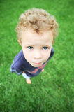 Little boy outside Stock Photo
