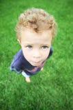 Little boy outside Stock Photo