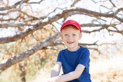 Little boy outside Royalty Free Stock Image