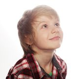 little boy over white background Royalty Free Stock Image