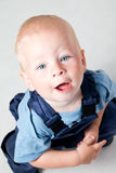 Little boy in overall Stock Image