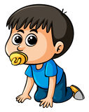 Little boy with pacifier Royalty Free Stock Photography