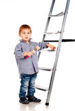Little boy with paintbrush Stock Photos