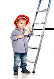 Little boy with paintbrush Royalty Free Stock Photography