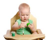 Little boy  painting egg Stock Image