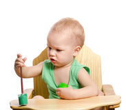 Little boy  painting egg Royalty Free Stock Photos