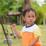Little boy painting Royalty Free Stock Photography