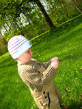 Little boy in park Stock Images