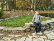 Little boy in park Royalty Free Stock Photos