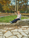 Little boy in park Royalty Free Stock Images