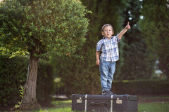 Little boy in the park Stock Images