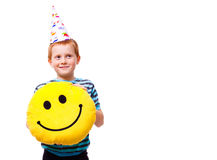Little boy in party hat Royalty Free Stock Photos