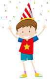 Little boy with party hat Royalty Free Stock Images
