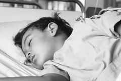 Little boy on the patient on the bed Royalty Free Stock Photos