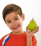 Little boy pear. Royalty Free Stock Images