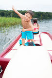 Little boy on a pedalo Royalty Free Stock Photo