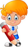 Little boy with pencil Stock Photography