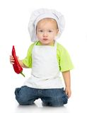 Little boy with pepper Royalty Free Stock Photos