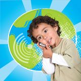 Little boy on the phone Royalty Free Stock Images