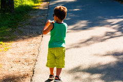 Little boy with photo camera Royalty Free Stock Photo