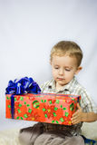 Little boy photographed in studio Christmas Royalty Free Stock Photos