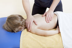 Little boy in physiotherapy Royalty Free Stock Photos