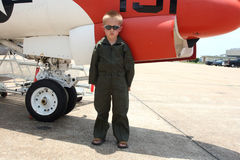 Little boy pilot Stock Image