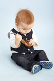 Little boy with pipeful, Stock Photo