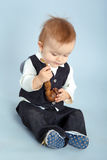 Little boy with pipeful, Royalty Free Stock Photography
