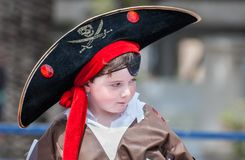 Little boy in pirate costume celebrate the Purim holiday at Tel. TEL-AVIV, ISRAEL - MARCH 20, 2011: Little boy in pirate costume celebrate the Purim holiday at stock images