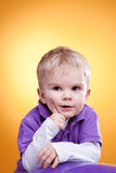 Little boy planing the idea Royalty Free Stock Photo