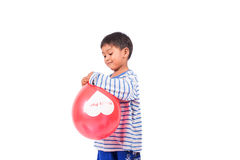 Little boy play balloon Stock Photography