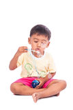 Little boy play bubble Royalty Free Stock Photo