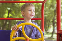 Little boy play on playground Royalty Free Stock Photography