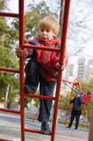 Little boy play on playground Royalty Free Stock Images