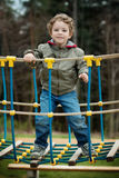 A little boy in the playground Royalty Free Stock Photo