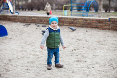 Little boy on playground Royalty Free Stock Photo