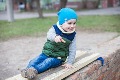 Little boy on playground Royalty Free Stock Photos