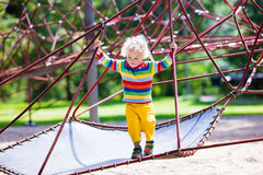 Little boy on a playground Stock Photography